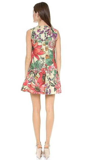 RED Valentino Macroflower Print Dress