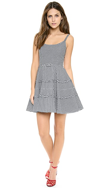 RED Valentino Check Flirty Tank Dress