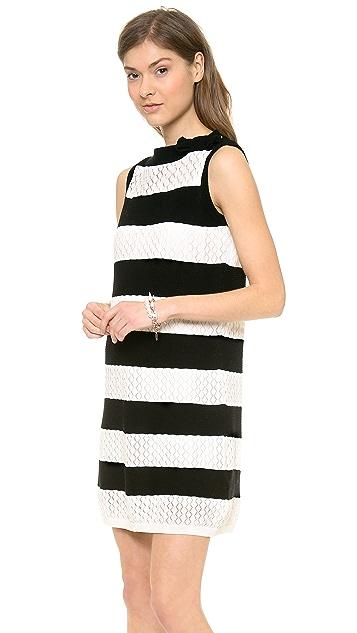RED Valentino Stripe Shift Dress
