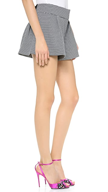 RED Valentino Multistripe Shorts