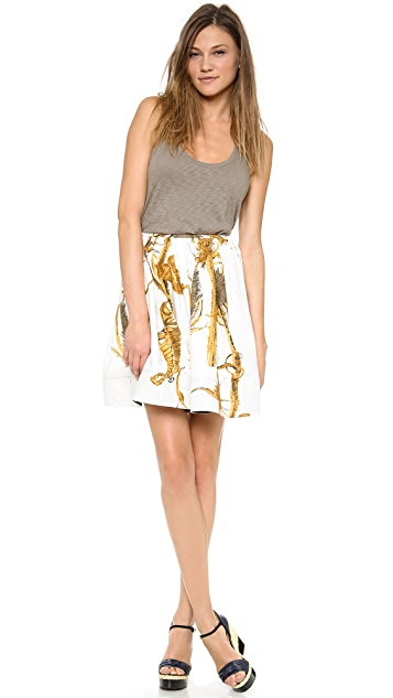 RED Valentino Thistle Print Skirt