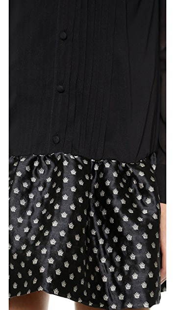 RED Valentino Drop Waist Tux Pleat Dress