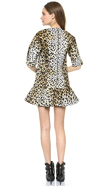 RED Valentino Leopard Print Scuba Dress