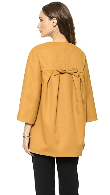 RED Valentino Bow Back Scuba Jacket