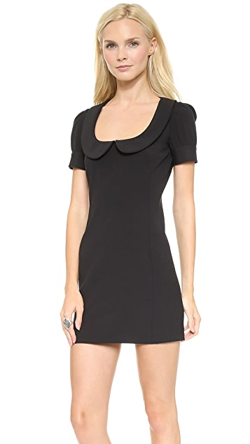 RED Valentino Scoop Neck Collar Dress