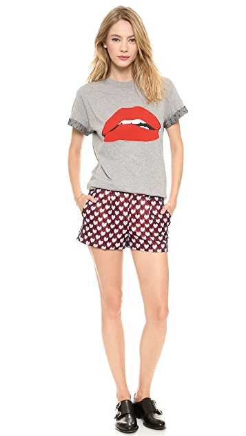 RED Valentino Jacquard Hearts Shorts