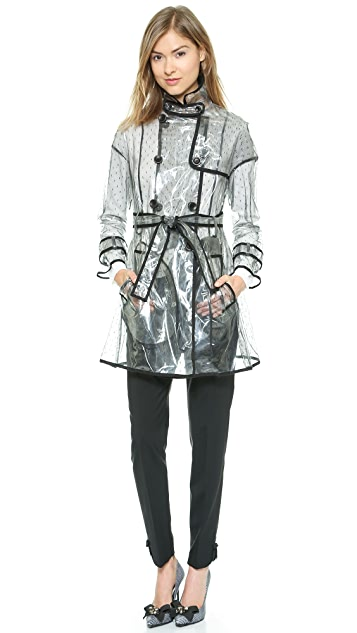RED Valentino Clear Trench Coat