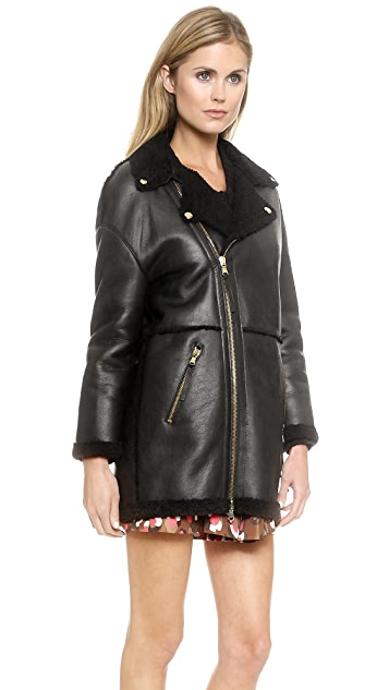RED Valentino Shearling Coat