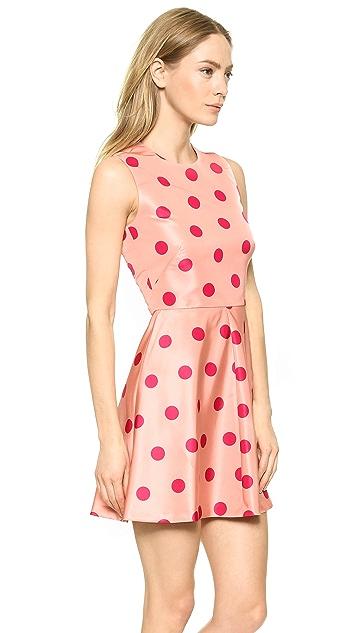 RED Valentino Polka Dot Printed Dress