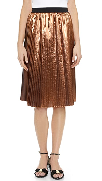 Looking For Sale Online Red Valentino metallic pleated skirt Discount Affordable z5t25zm5v