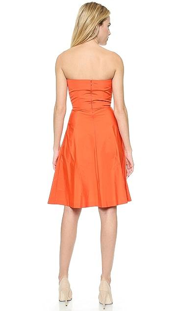 RED Valentino Strapless Taffeta Dress