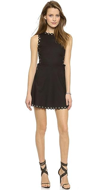 Lace Up Sleeveless Dress