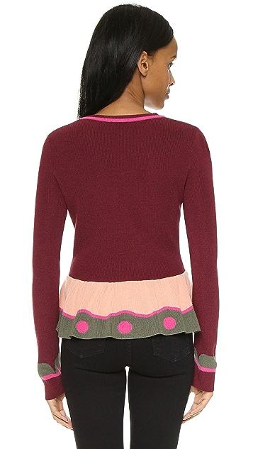RED Valentino Peplum Sweater