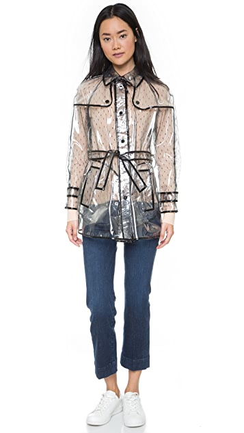 RED Valentino Transparent Trench Coat