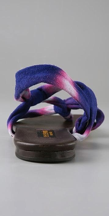 Reed Evins Tie Dye Thong Sandals