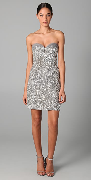 Reem Acra Sweetheart Neckline Strapless Dress