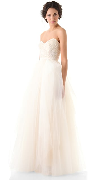 Reem Acra Eternity Strapless Dress