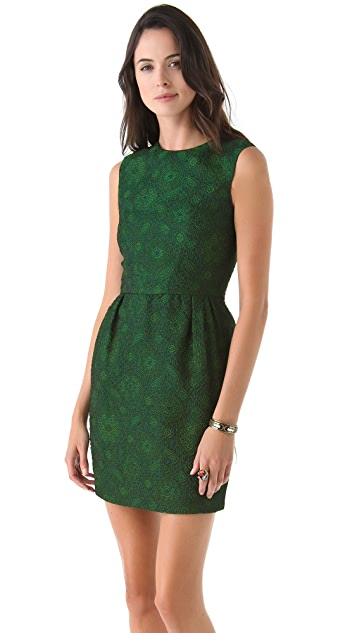 Reem Acra Sleeveless Brocade Dress