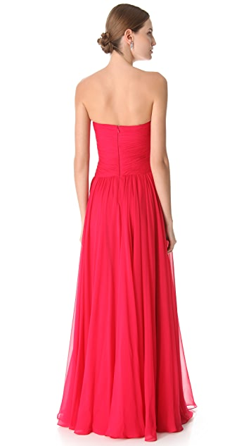 Reem Acra Twisted Strapless Dress