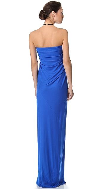 Reem Acra Silk Draped Gown
