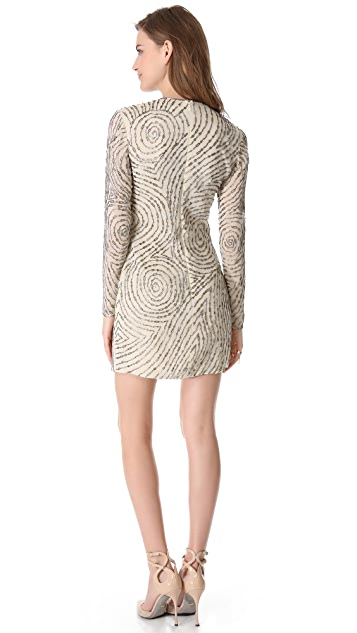 Reem Acra Beaded Sheath Dress