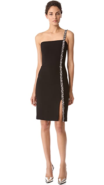 Reem Acra Strapless Crepe Dress