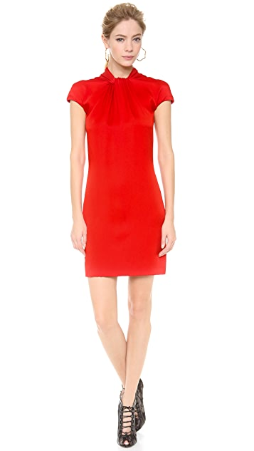 Reem Acra Twist Front Sheath Dress
