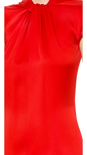 Reem Acra Twist Front Sheath Dress