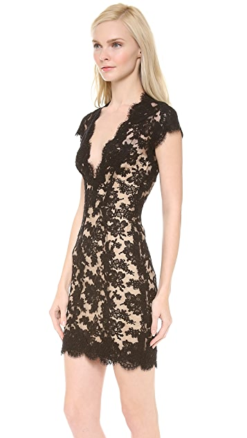 Reem Acra Lace Cocktail Dress
