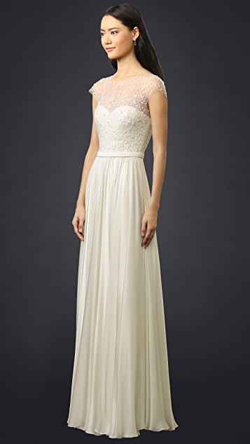Reem Acra I'm Amazing Cap Sleeve Gown