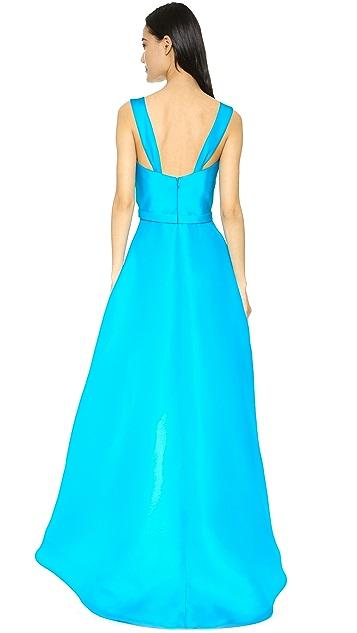 Reem Acra Silk Gazaar Gown
