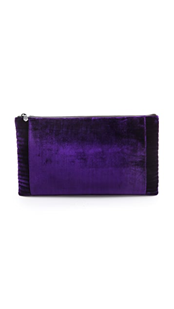 Reece Hudson Bowery Zip Top Oversized Clutch