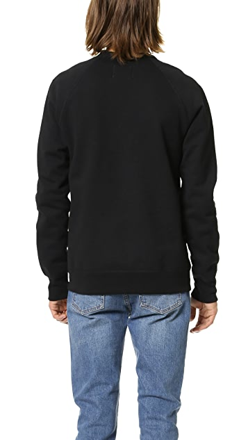 Reigning Champ Heavyweight Side Zip Crew Sweatshirt