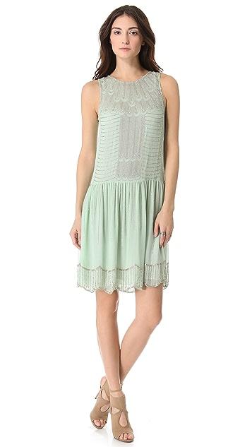 Renzo + Kai Embellished Drop Waist Dress