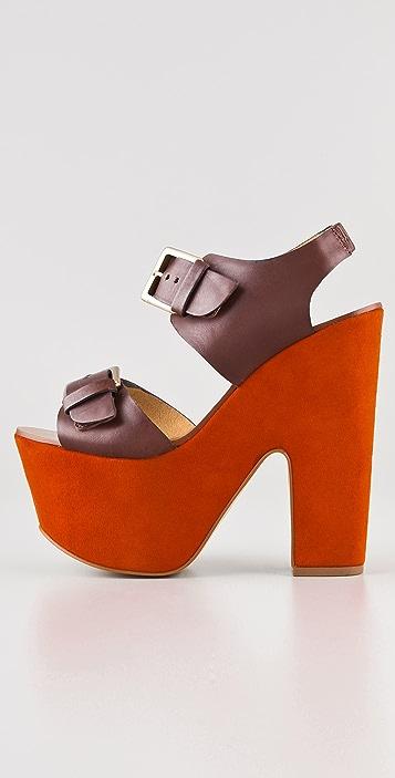 Report Signature Bruner Platform Sandals