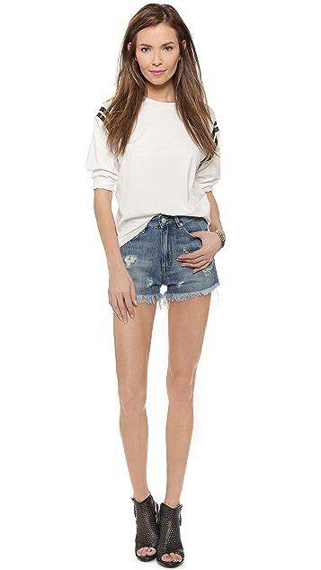 RES Denim Kitty Shorts