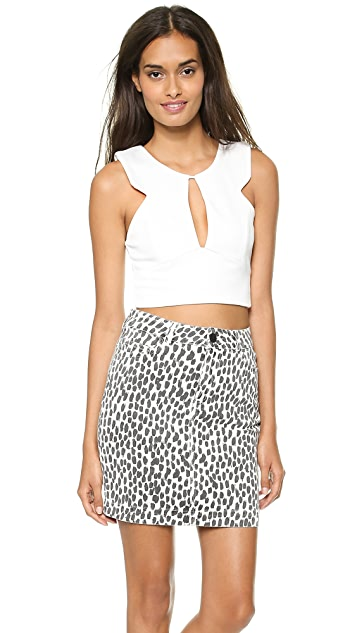Reverse Cutout Crop Top