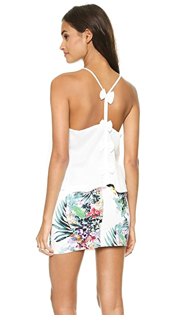 Reverse Bow Back Crop Top