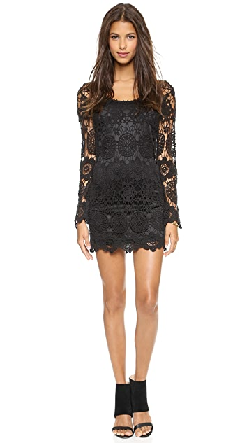 Reverse Body Con Crochet Dress