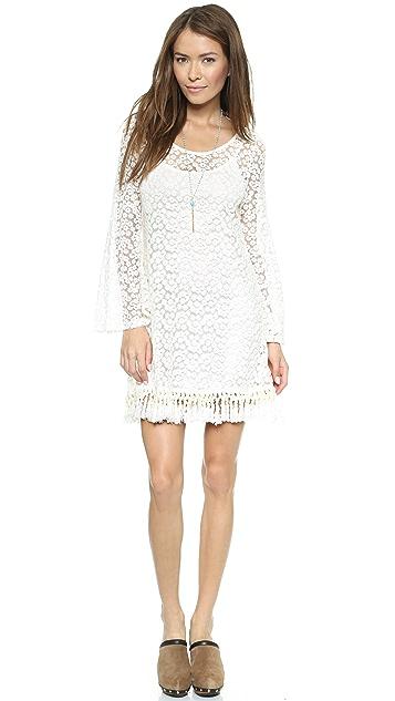 Reverse Lace Shift Dress