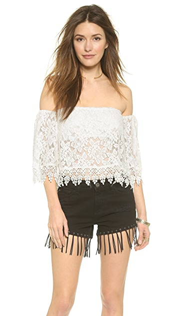 Reverse Off Shoulder Blouse