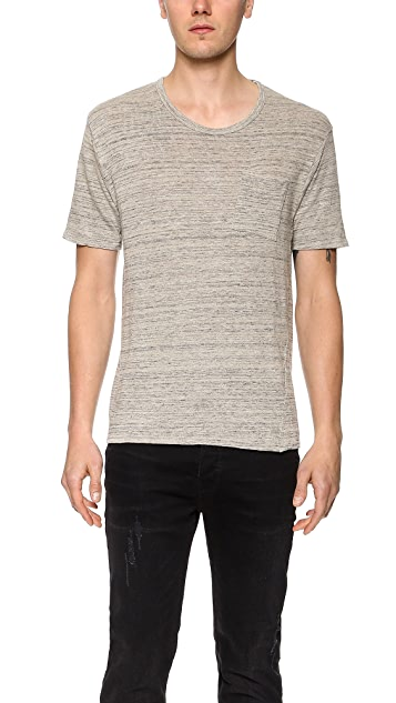 Robert Geller Linen Pocket T-Shirt