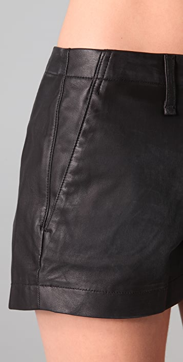 Rag & Bone/JEAN The Portobello Leather Shorts