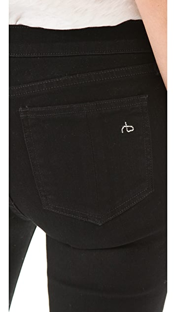 Rag & Bone/JEAN Exposed Zipper Skinny Jeans