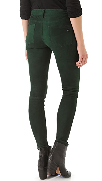 Rag & Bone/JEAN The Suede Skinny Pants