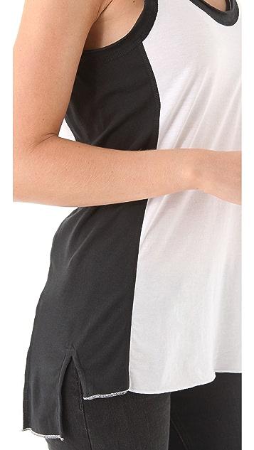 Rag & Bone/JEAN Colorblock Pocket Tank Top