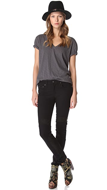 Rag & Bone/JEAN Motocross Panel Leggings