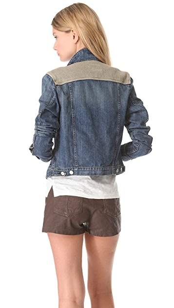 Rag & Bone/JEAN Denim & Knit Jacket