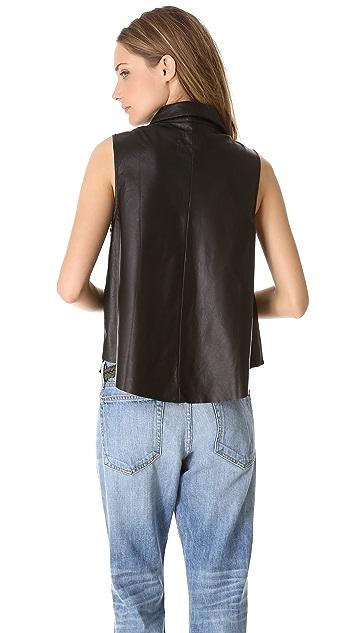 Rag & Bone/JEAN Leather Tent Tank