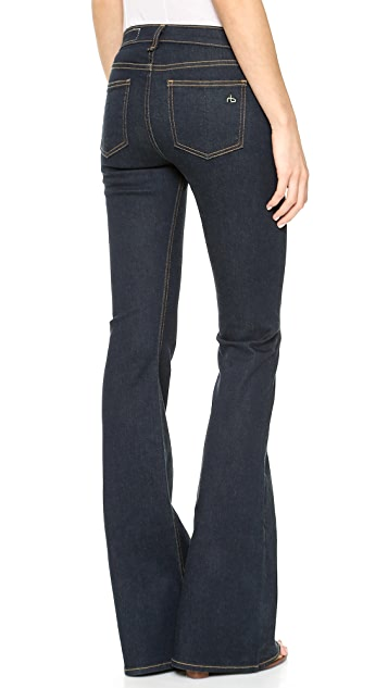 Rag & Bone/JEAN High Rise Clean Bell Jeans